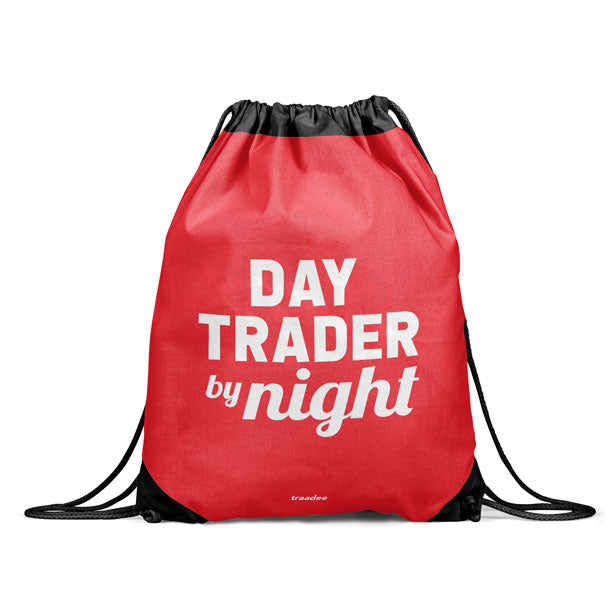 Day Trader By Night - Drawstring Bag