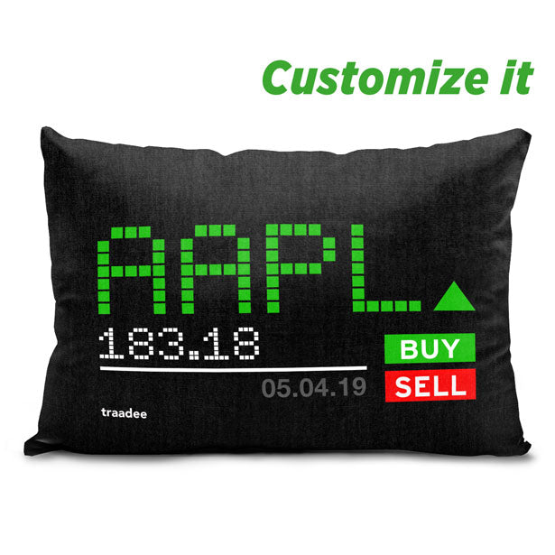 Ticker Symbol - Led - Throw Pillow