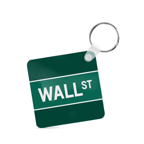 Wall St - Square Keychain