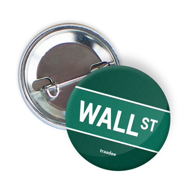 Wall St - Button