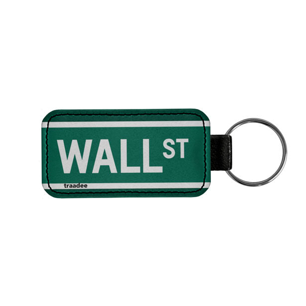 Wall St - Leather Keychain