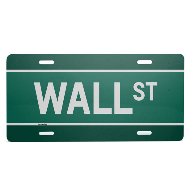 Wall St - License Plate