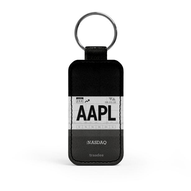 AAPL - Leather Keychain