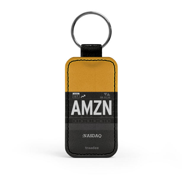 AMZN - Leather Keychain