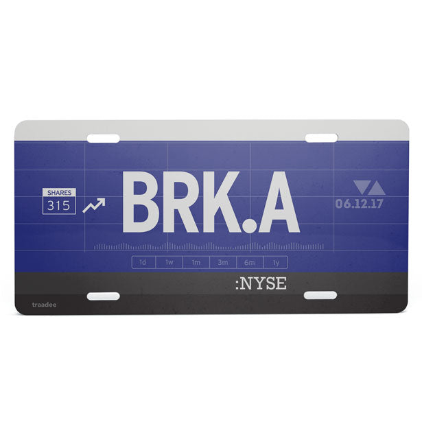 BRK.A - License Plate
