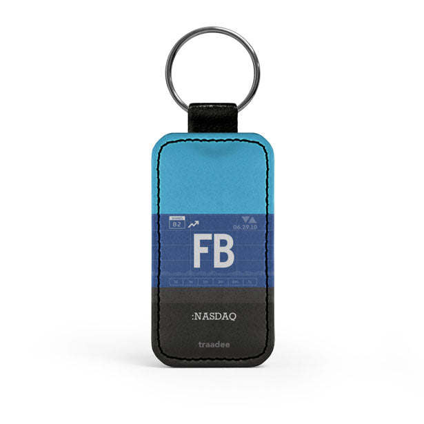 FB - Leather Keychain