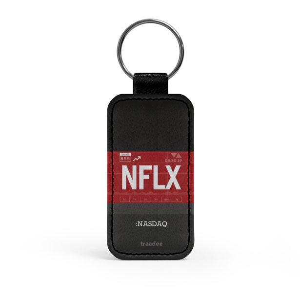 NFLX - Leather Keychain