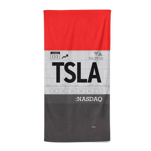 TSLA - Beach Towel