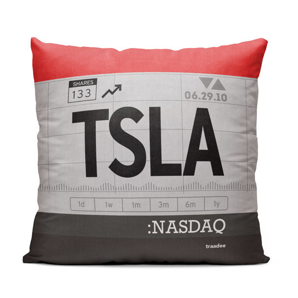 TSLA - Throw Pillow
