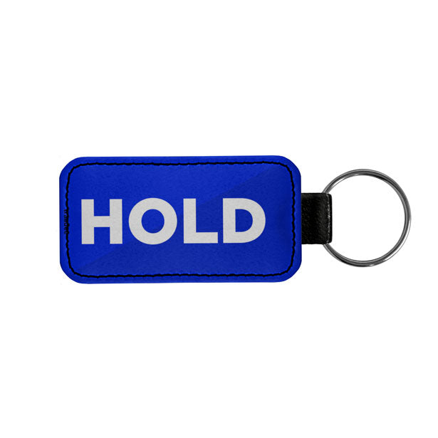 Hold - Leather Keychain