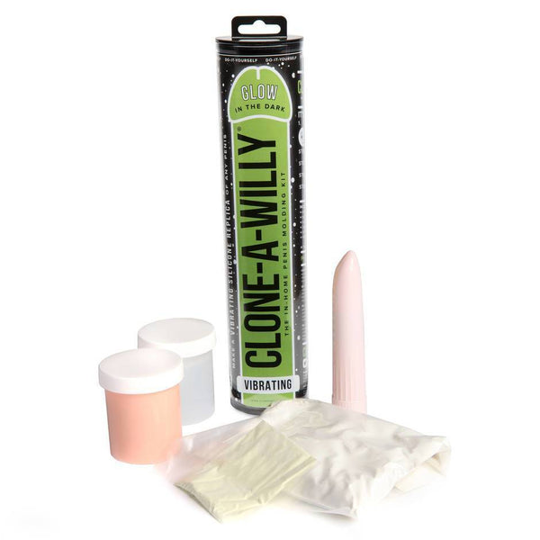 Clone-A-Willy Kit Vibrating - Glow In The Dark Original