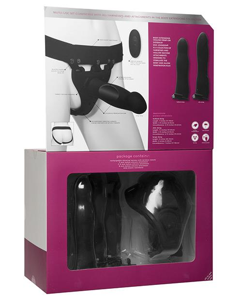 Doc Johnson Body Extensions Be Naughty Vibrating 4 Piece Strap On Set