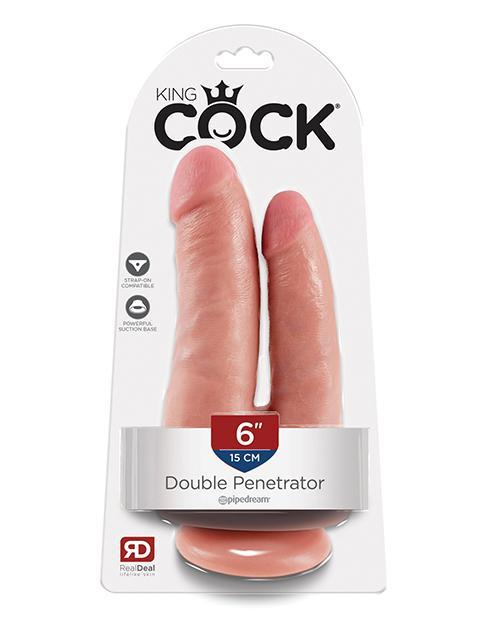 "King Cock 6"" Double Penetrator - Flesh"