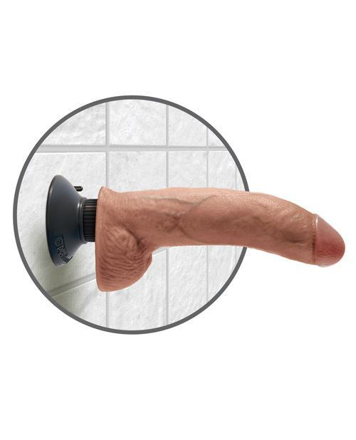 "King Cock 9"" Realistic Vibrating Dildo With Balls"