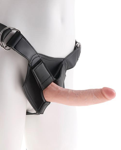 "King Cock Strap On Harness With 7"" Dildo Flesh"