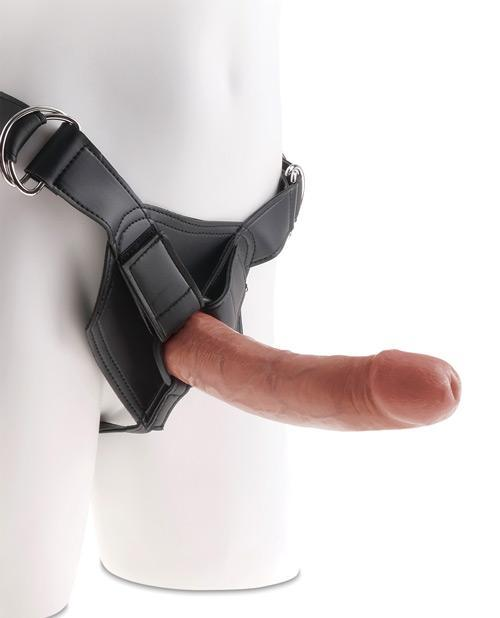 "King Cock Strap On Harness With 8"" Dildo Tan"