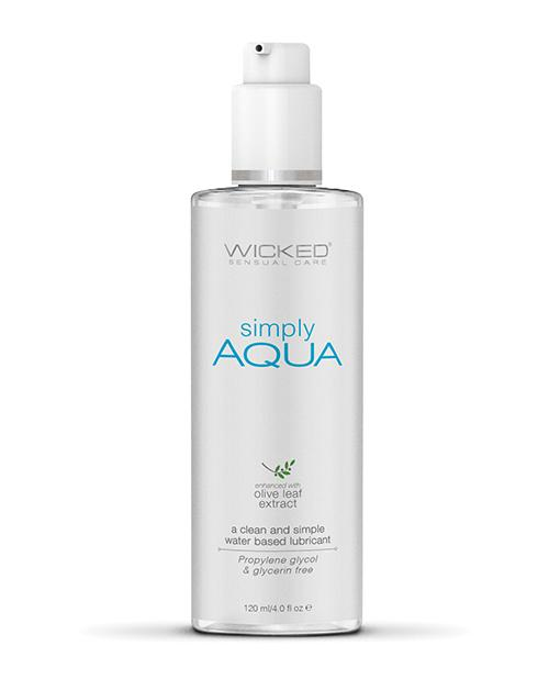 Wicked Sensual Care Simply Aqua Water Based Lube - 4 oz
