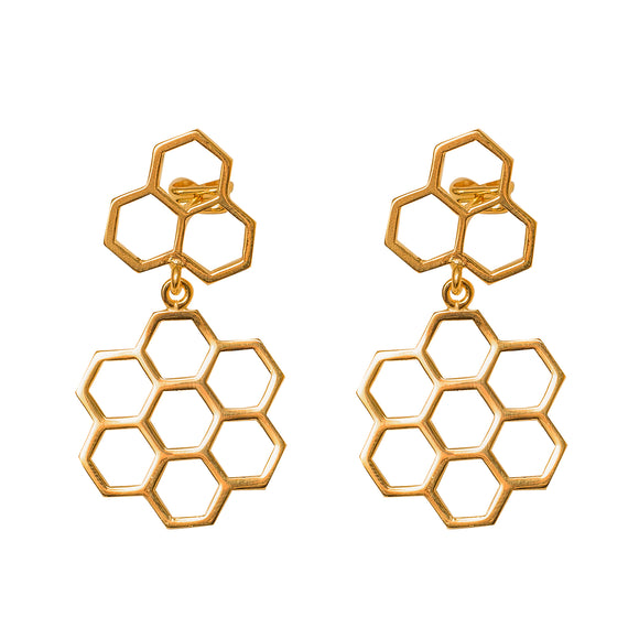 Pendientes Bee Happy Medium - joyashobe
