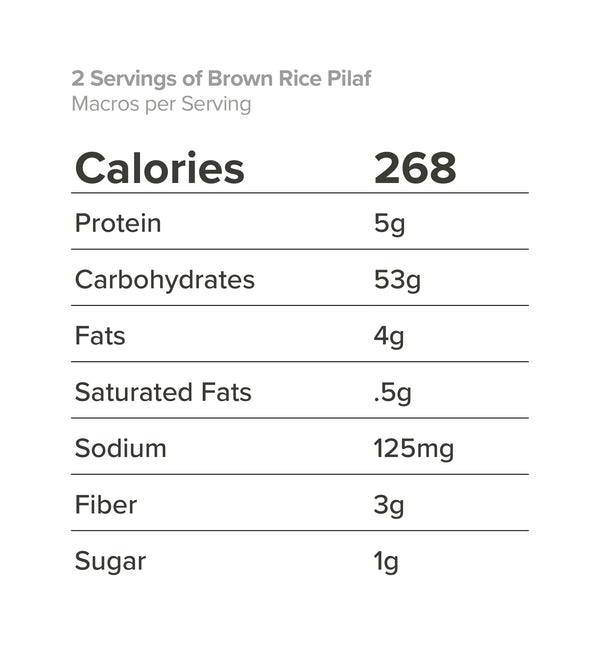 2 Servings of Brown Rice Pilaf