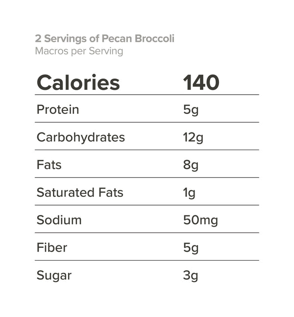 2 Servings of Pecan Broccoli