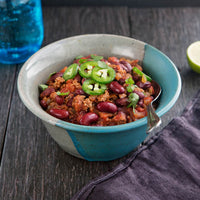 Bacon, Grass-Fed Bison and Gluten-Free Beer Chili