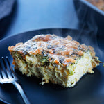 Broccoli and Cheddar Free-Range Egg Casserole