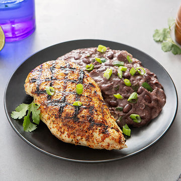 Chicken Asado with 'Refried' Black Beans