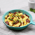 Free-Range Eggs and Turkey Bacon Scrambler