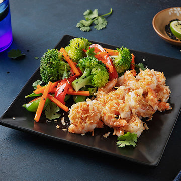 Garlic Coconut Wild-Caught Shrimp and Sesame Vegetables