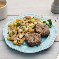 Grass-Fed Beef Breakfast Sausage with Potato Hash