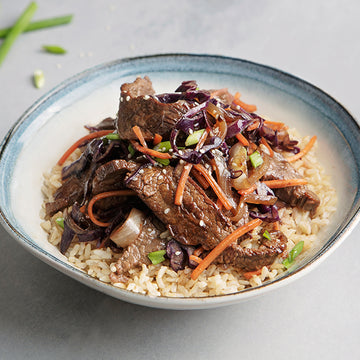 Korean BBQ Grass-Fed Beef and Brown Rice Bowl