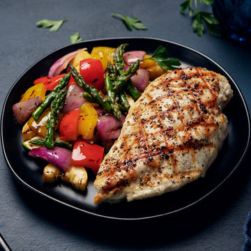 Lemon-Herb Chicken with Grilled Summer Vegetables