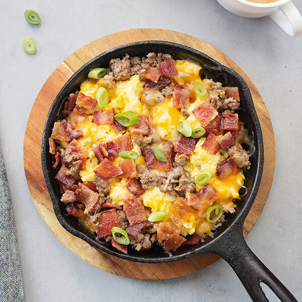 Meat Lover's Keto Scramble