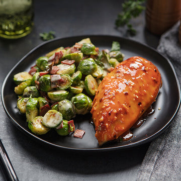 Paleo Firecracker Chicken with Bacon-Ranch Brussels Sprouts