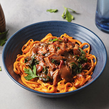 Applewood Heritage Pork Ragu with Sweet Potato Noodles