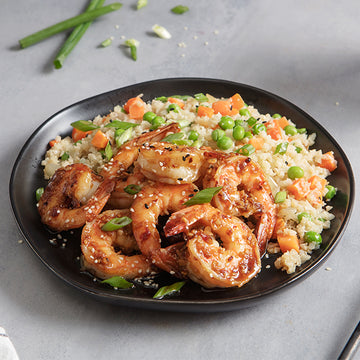 Szechuan Wild-Caught Shrimp with Cauliflower Fried Rice