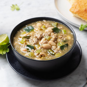 Organic Free-Range Turkey and White Bean Chili