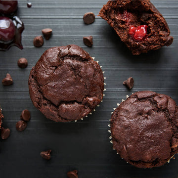 Paleo Chocolate Cherry Bomb Muffin
