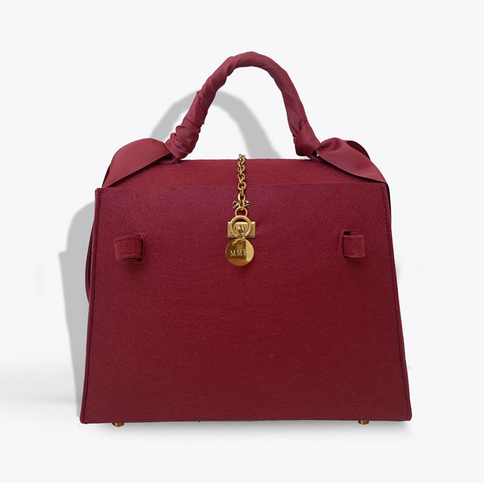 THE BRUNCH TOTE LADY Bag in Burgundy
