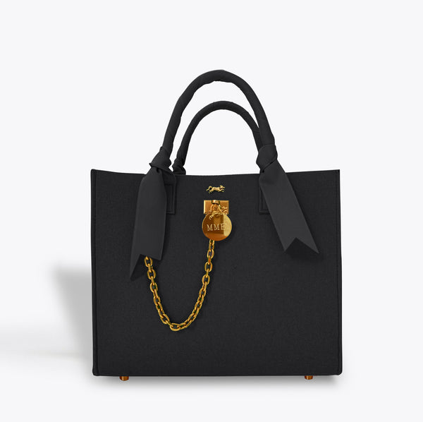 "BRUNCH TOTE in ""NOIR"""