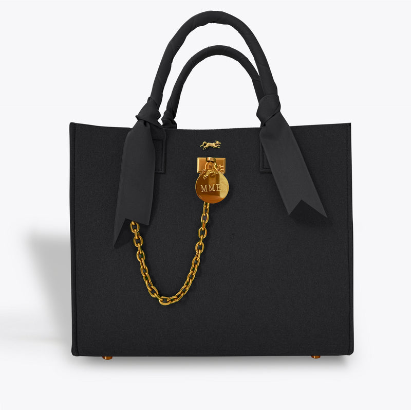 "THE BRUNCH TOTE ""NOIR"" GRAND"