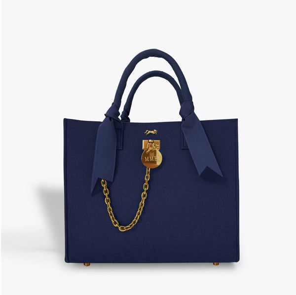 "THE BRUNCH TOTE in ""NAVY"""