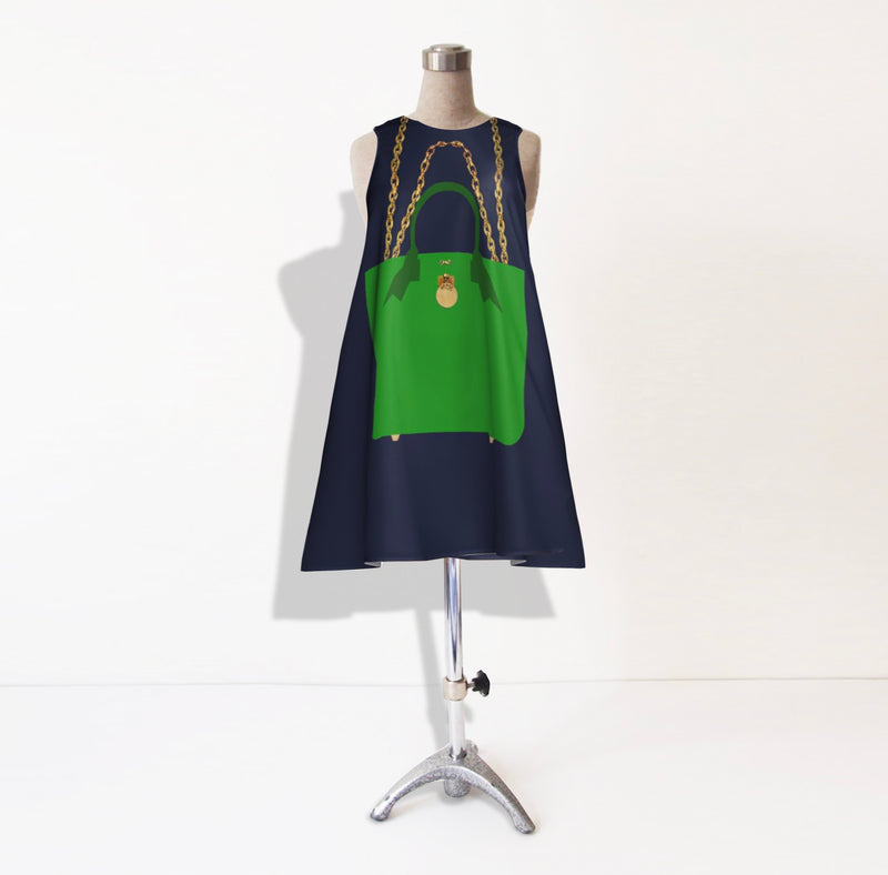 The BRUNCH TOTE Dress in Envy Green