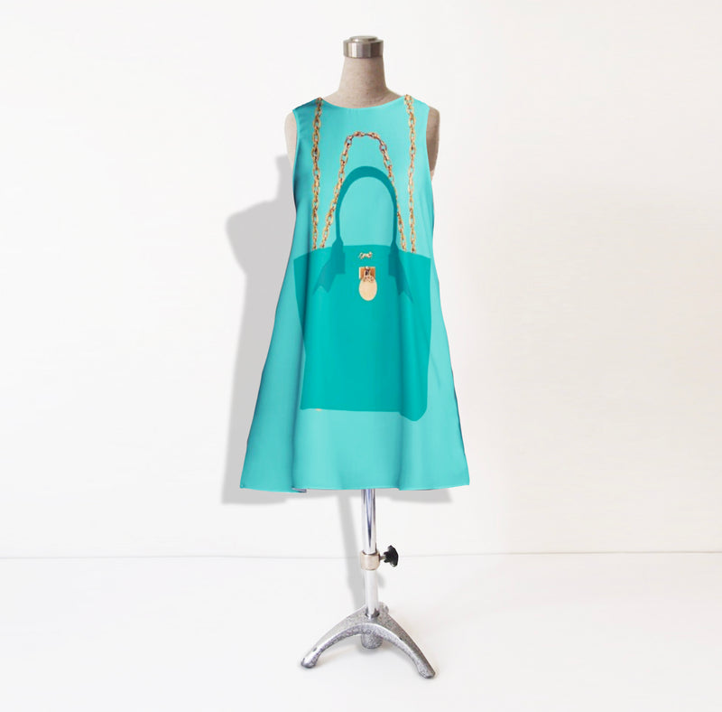 THE BRUNCH TOTE DRESS IN TIFFANY