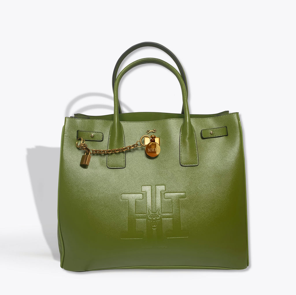 THE HERITAGE TOTE  in Envy Green GRAND