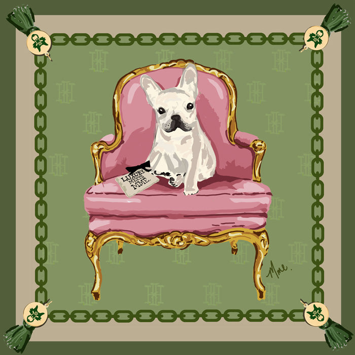 MME. Sitting Pretty Frenchie Scarf