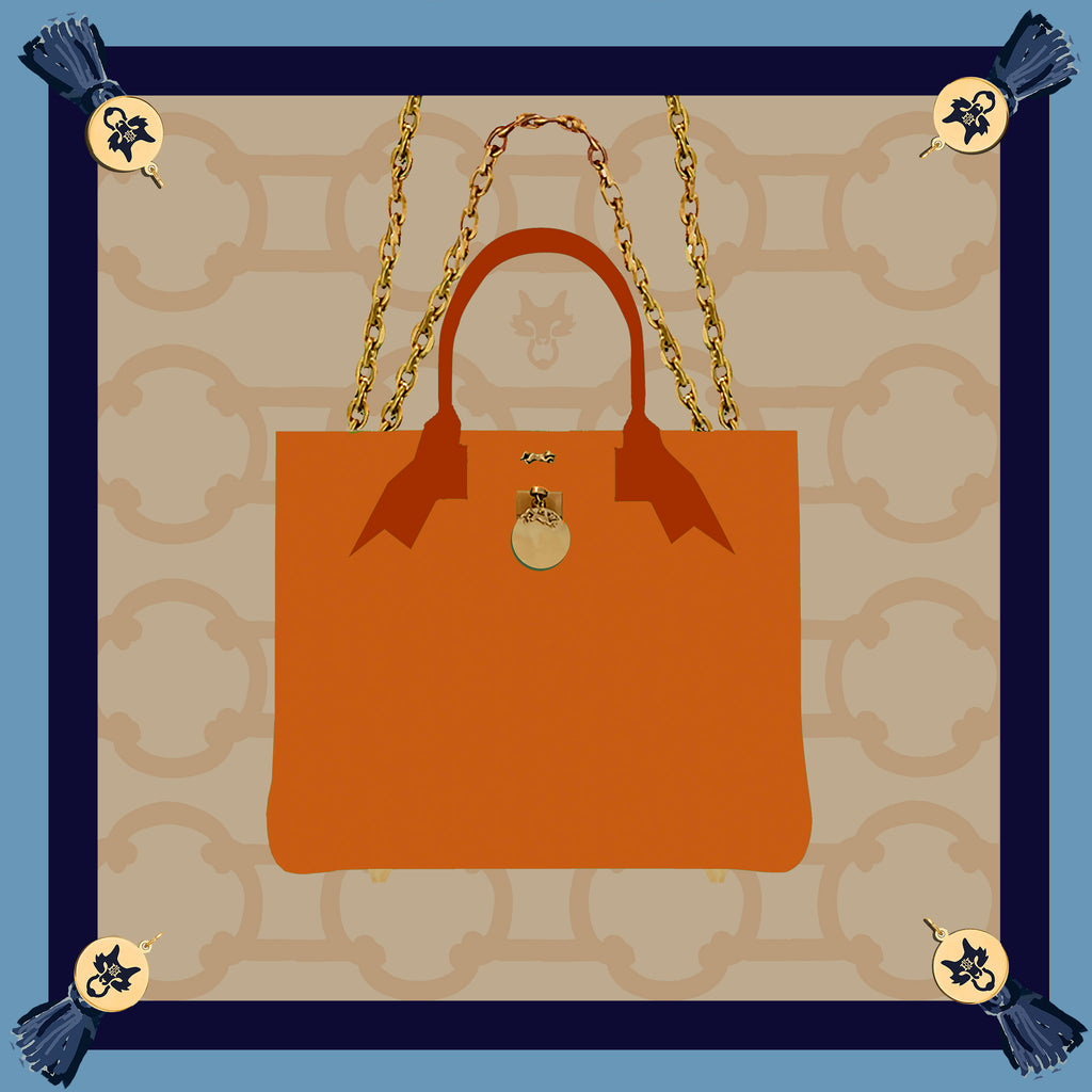 "MME. Famous ""BRUNCH TOTE"" Scarf 20""x20"""