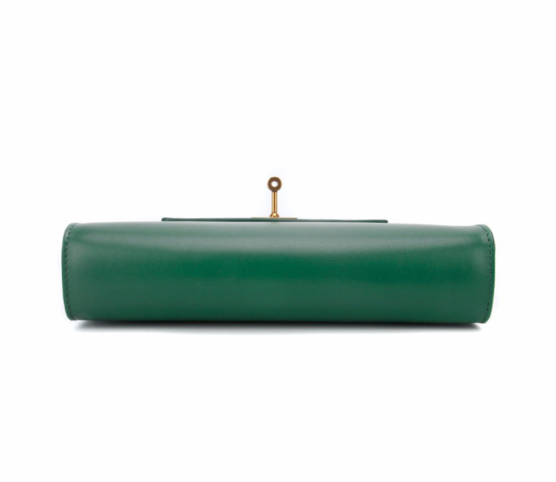 The Mayfair Clutch in Kelly Green