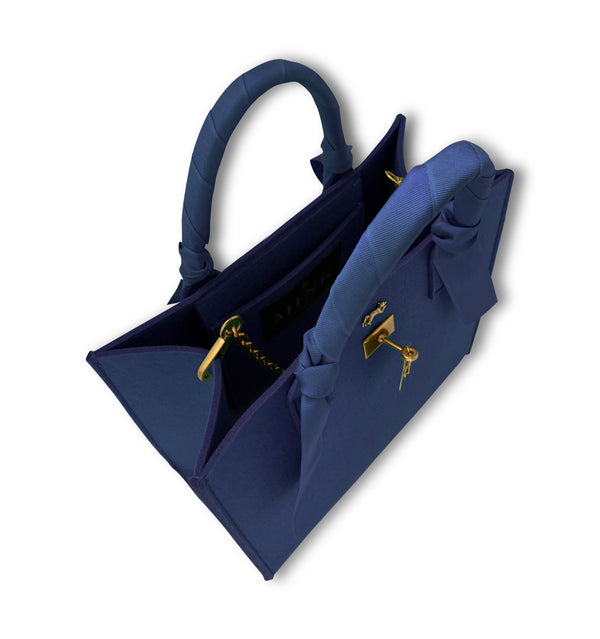 "THE BRUNCH TOTE in  ""NAVY"" GRAND"