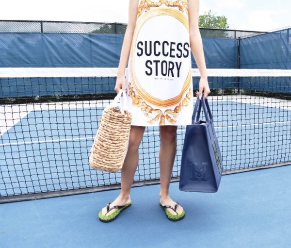 "The ""SUCCESS STORY"" Popover Scarf Dress"